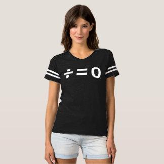T-shirt du football des femmes foncées d'unité