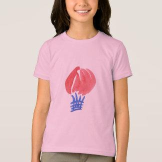 T-shirt du Jersey des filles de ballon à air
