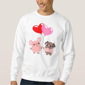 T-shirt embrouillé de coeurs (porcs de bande