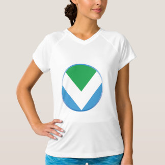 T-shirt featuring official vegan flag.