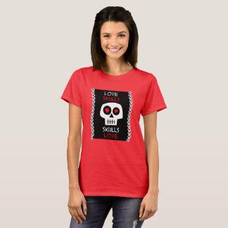 T-shirt Fem Skulls Love