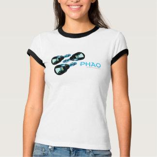 T-shirt femelle de sonnerie de lampes-torches de
