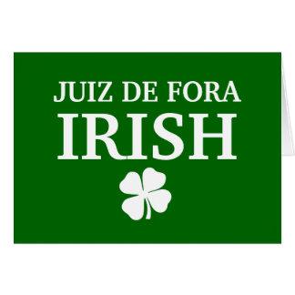 T-shirt fier de ville de Custom Juiz de Fora Irish Carte De Vœux