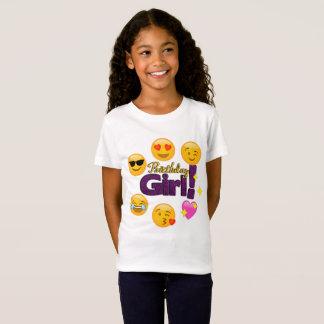 T-Shirt Fille d'anniversaire (emojis)