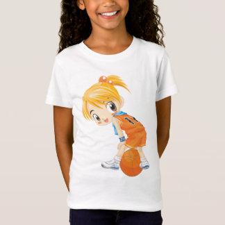 T-Shirt fille de boule de panier