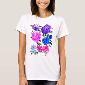 T-shirt Fleurs colorées Art7