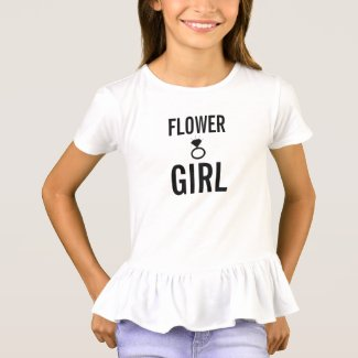 T-Shirt - Flower Girl (Bling) White