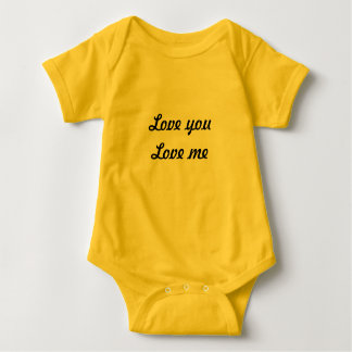 T shirt for newborn saying  love you love me