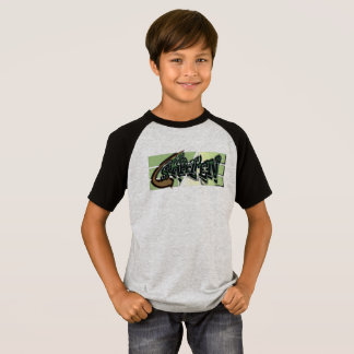 T-shirt for Skater grey/black for boys
