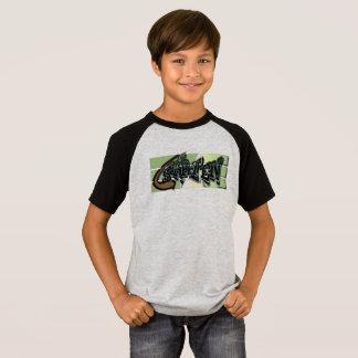 T-shirt for Skater grey/black for boys