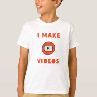 T-shirt for video creators