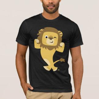 T-shirt fort de lion de bande dessinée