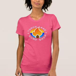 T-shirt fuchsia de logo de l'alt des femmes