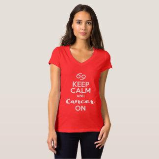 T-shirt Gardez le calme et le Cancer sur l'anniversaire