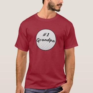 T-shirt Grand-papa du numéro un avec la boule de golf