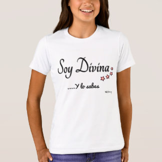 T-shirt I am Divine girl round neck