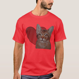 T-shirt - I Love Abyssinian Cats