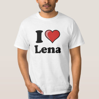 "T-shirt ""I love Lena """