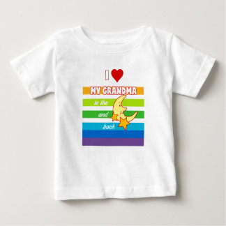 T-shirt. I love my grandma ton the moon and bake Baby T-Shirt
