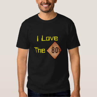 T-Shirt: I Love The 80s. Black Tees