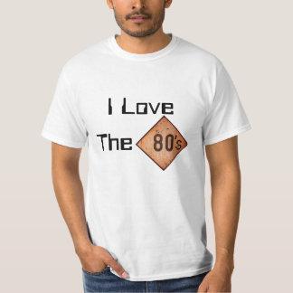 T-Shirt: I Love The 80s. White Tshirts
