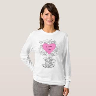 T-shirt I torche pink love heart