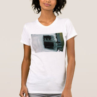 T-shirt imprimé par résumé frappé à toute volée