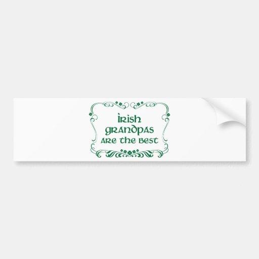 T-shirt irlandais de grand-papa autocollant pour voiture