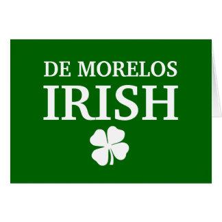 T-shirt irlandais fier de ville de la coutume De M Carte De Vœux
