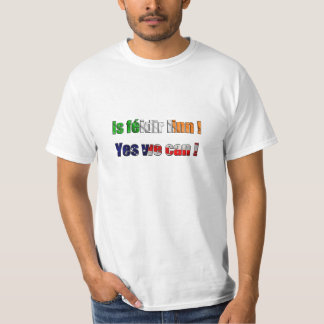 T-shirt 'Is feidir linn - yes we can'