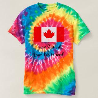 T-shirt J'aime le Canada de hein à Zed - amusement