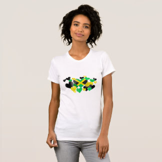 T-shirt - Jamaican Hearts