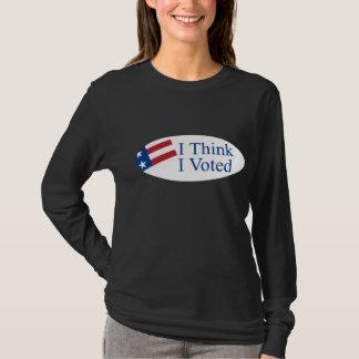 T-shirt Je pense que j'ai voté