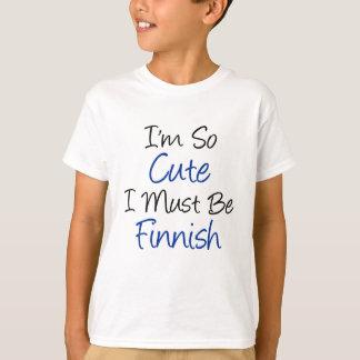 T-shirt Je suis finlandais tellement mignon