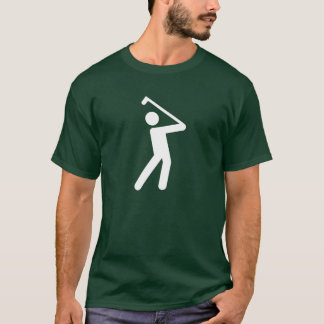 T-shirt jouant au golf de pictogramme