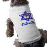 T-shirt juif d'animal familier de chien de SHALOM T-shirts Pour Animaux Domestiques