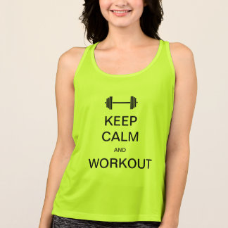 "T-shirt ""Keep calm and workout """