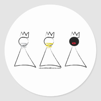 T-shirt Kings Magos Classic Round Sticker