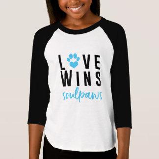 T-shirt L'amour gagne la chemise de filles
