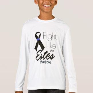 T-shirt Le combat comme un Estes badine le Cancer Blue