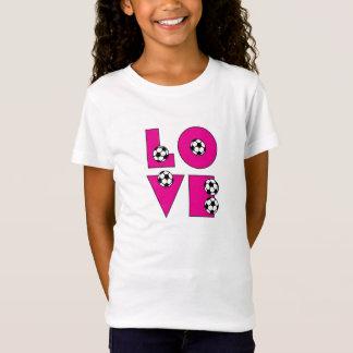 T-Shirt Le football d'amour dans le rose
