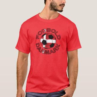 T-shirt Le football Danemark de Fodbold Danmark