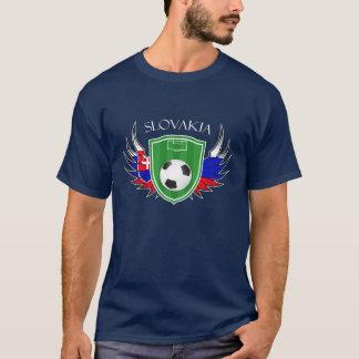 T-shirt Le football de ballon de football de la Slovaquie