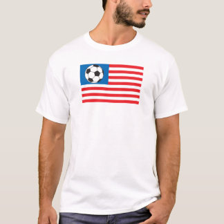 T-shirt le football drapeau-Amérique