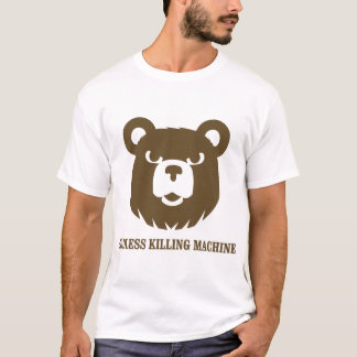 T-shirt les machines athée de massacre d'ours câlinent le