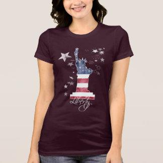 T-Shirt. Liberty Manhattan New York USA, Art T-Shirt