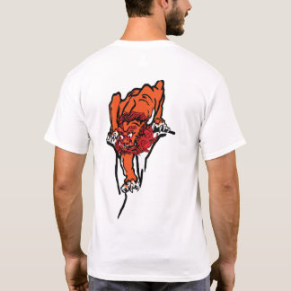 T-shirt lion style japonais dos