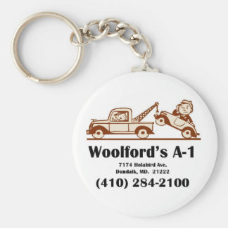 t-shirt logo w-address keychain