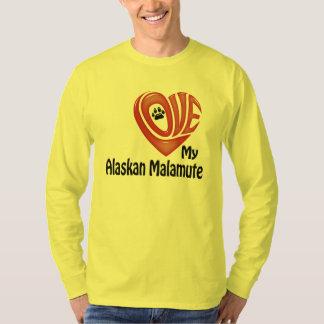 T-Shirt Long-sleeve Men: Love My Alaskan Malamute