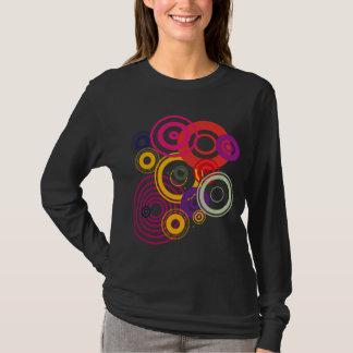 T-shirt long sleeve woman circles